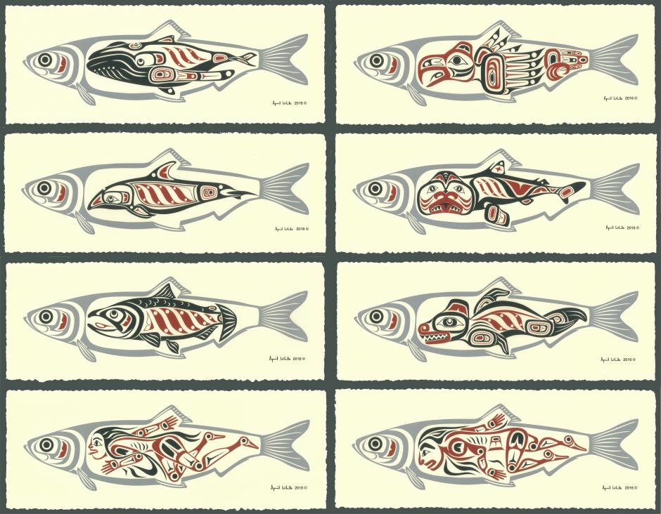 Herring People serigraph series by April White